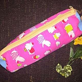 Pink Hippo Pencil Case