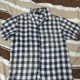 (代售)黑白格子襯衫