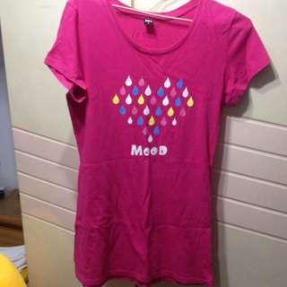 101粉色雨滴上衣