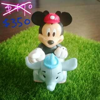 迪士尼樂園限定米奇騎小飛象造型迴力車