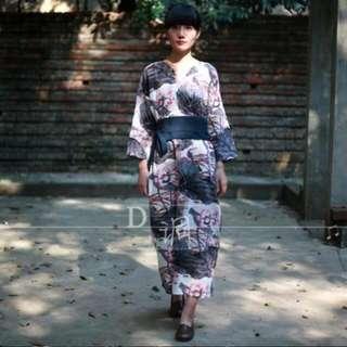 純棉麻✨改良式和服長洋