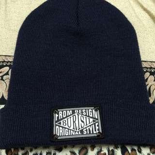 深藍色卯釘造型毛帽