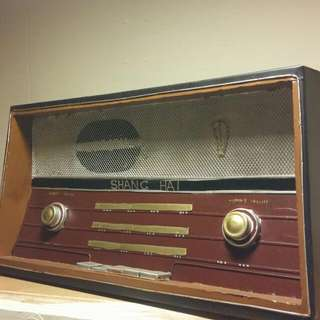 工業風 鐵質復古收音機