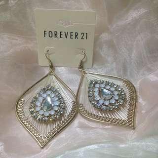 免運❗️💖Forever 21水晶耳環
