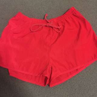 Red Shorts Size 8/small