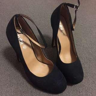 Black Ankle Strap High Heel Size 39
