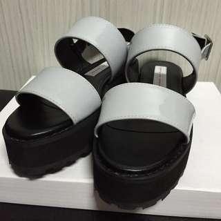 全新含運)日本帶回灰色百搭涼鞋