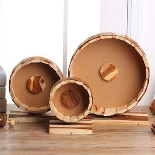 HAMSTER HOUSE ACCESSORIES: WOODEN WHEEL