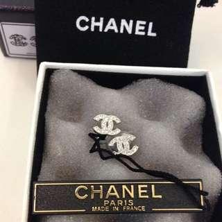 Chanel 經典水鑽耳環 香奈兒