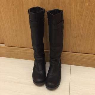 🚚 🌟基本款黑色長筒靴36號