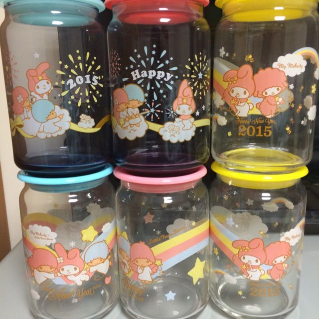 (全新)美樂蒂*雙子星仙子玻璃罐