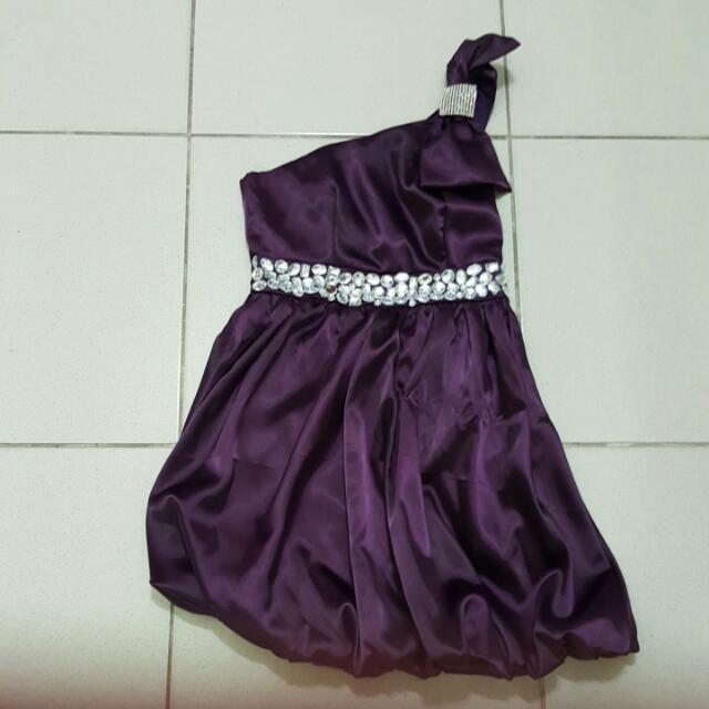 紫色亮鑽小禮服