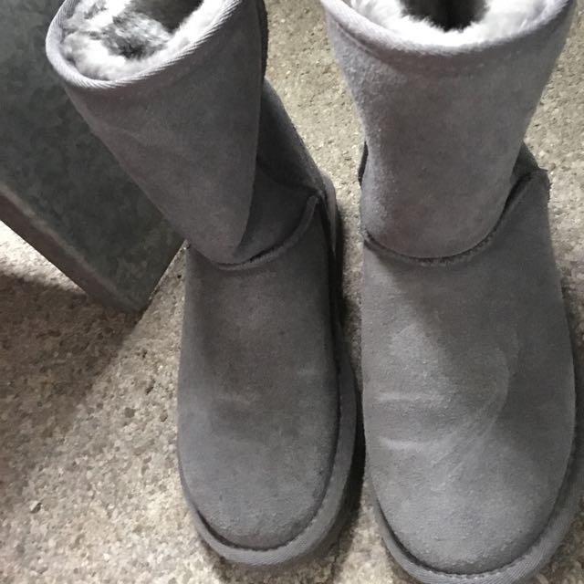 質感很好灰雪靴