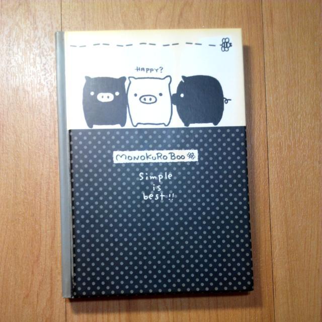 全新★黑白豬筆記本