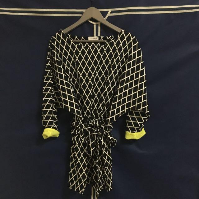 格菱紋洋裝👗