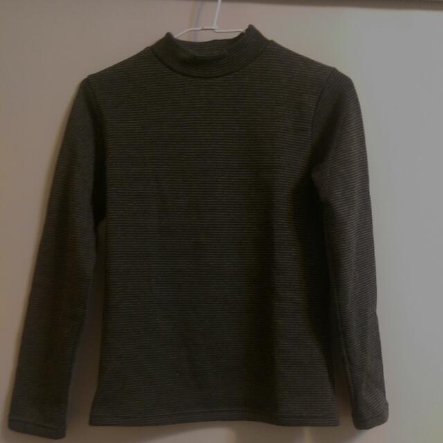 超保暖立領上衣(深灰條紋)台灣製