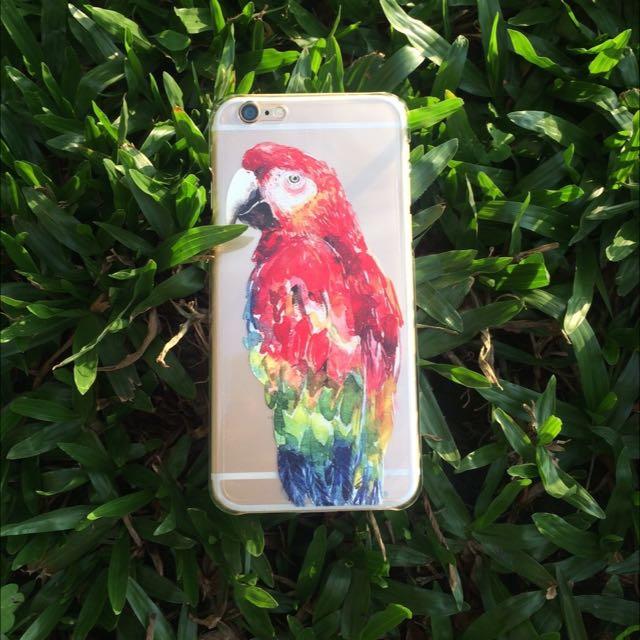 鸚鵡 手機殼