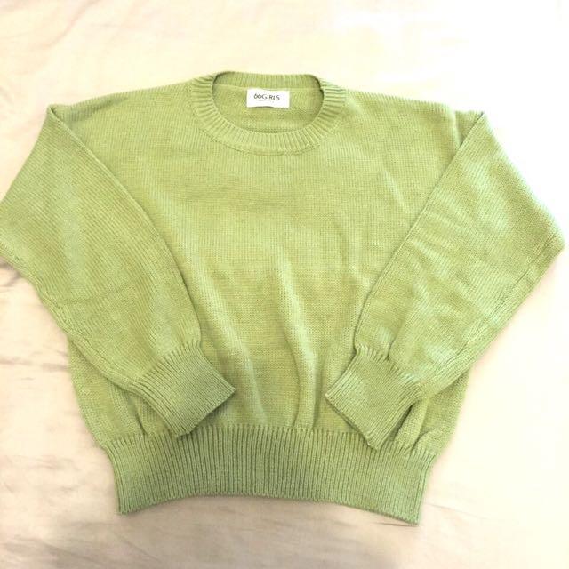🇰🇷正韓☘圓領粗針織毛衣 代售
