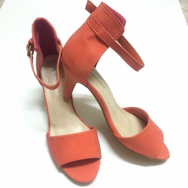 ✨全新🎀 韓系甜美 寬版高跟涼鞋