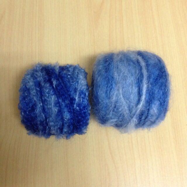 毛線 紐西蘭小羔羊花紗.毛海 藍色段染