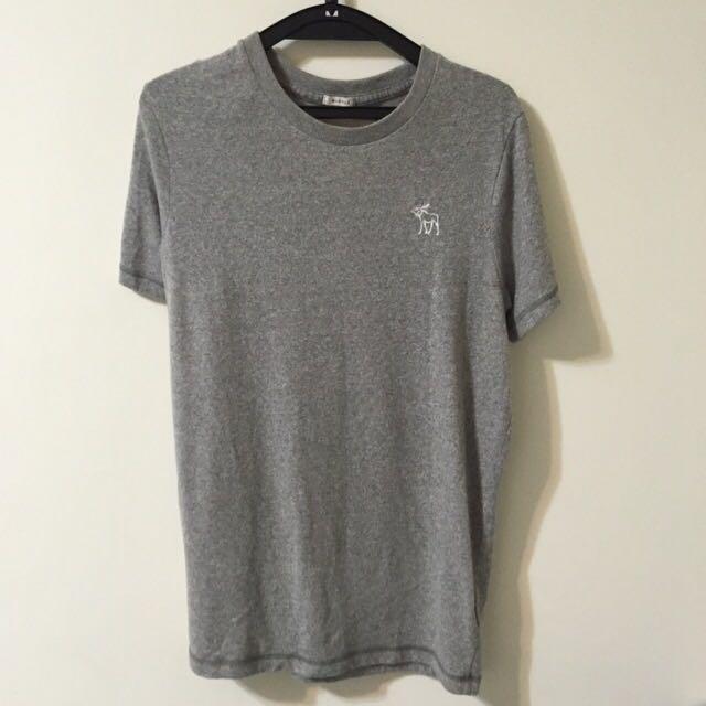 二手✌🏻️男款 abercrombie & fitch 圓領T恤(白.綠.灰)