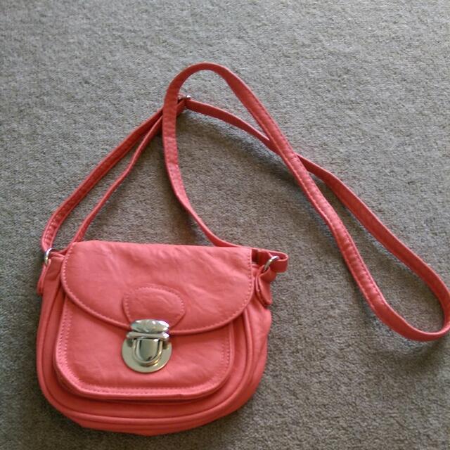 Coral colour Mini Handbag