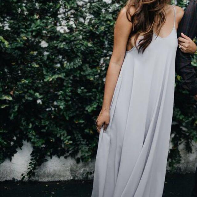 Dove Grey Long Dress