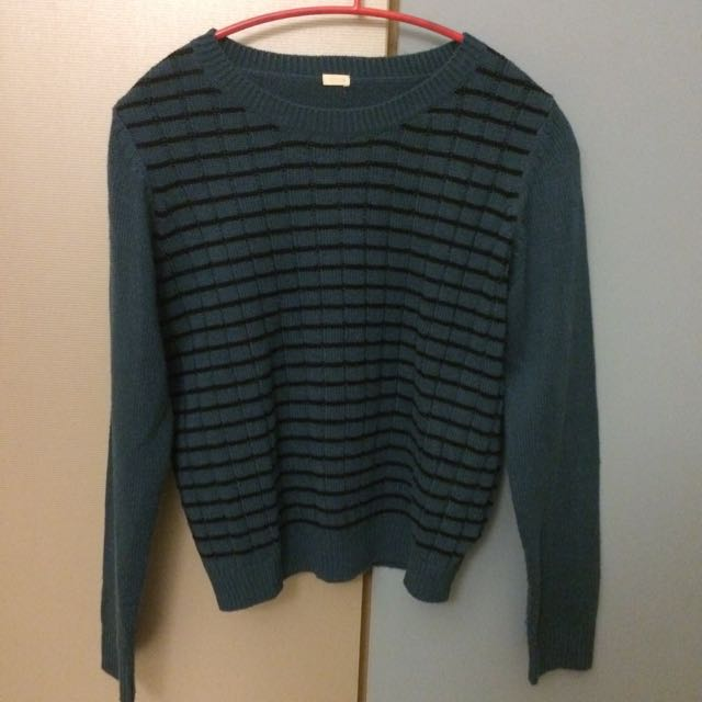 GU橫條毛衣