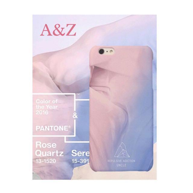 現貨。藍粉冰淇淋皺褶iphone手機殼