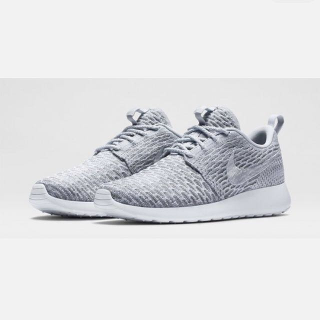 the latest 4aba3 b21f9 ... 704927 f6be9 aca52 discount nike roshe run flyknit wolf grey white pure  platinum womens 00503 3708d ...