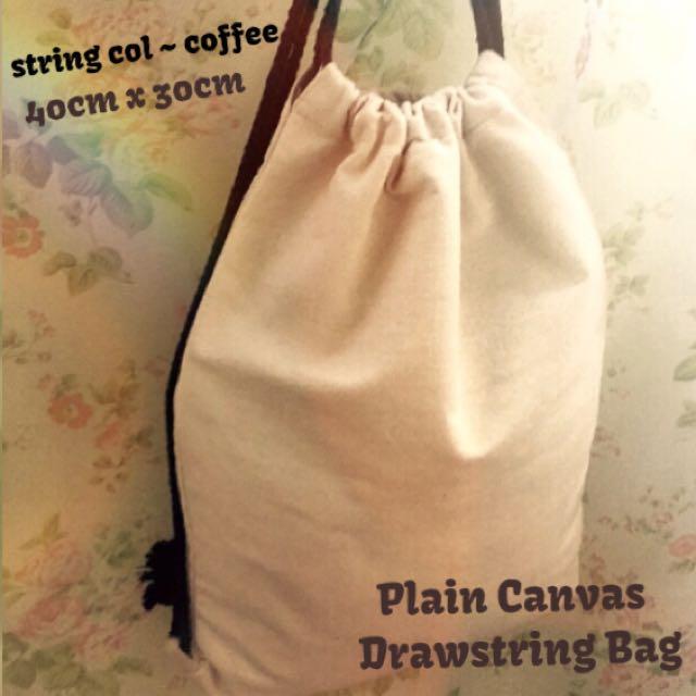 82674f39c8 Plain Canvas Drawstring Bag