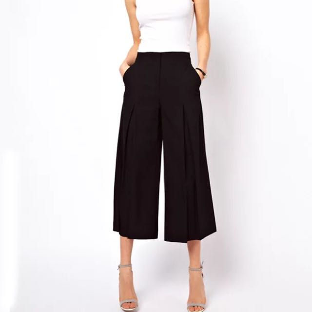 READY STOCK HIGH QUALITY Flared Trousers / Bell Bottomed Pants