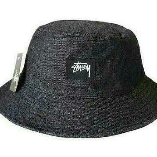 5911fad80f5 STUSSY BLACK DENIM BUCKET HAT