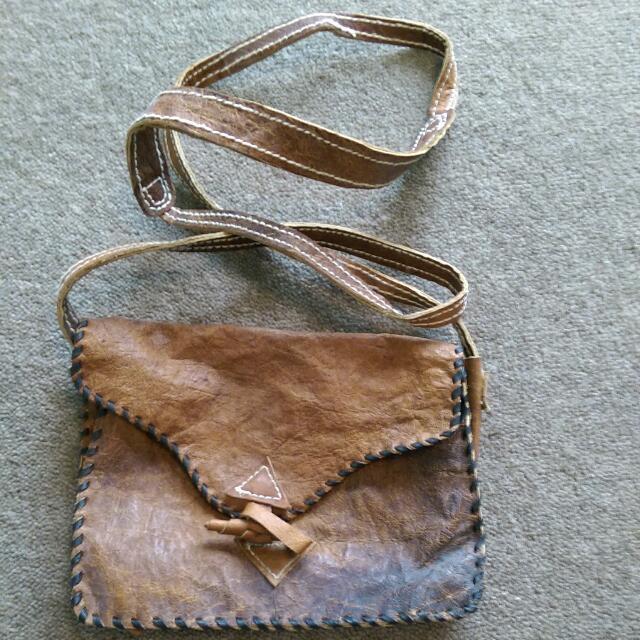 Vintage Brown Mini Handbag