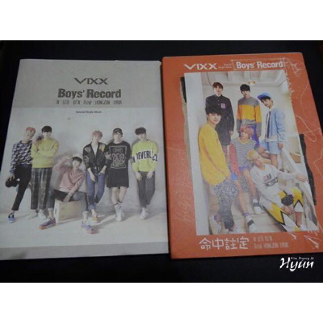 (暫售)VIXX Boy's record 離別公式 台壓 特別版 空專