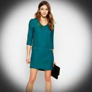 ASOS V-NECK DRESS