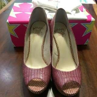 🚚 Miss Sofi魚口高跟鞋 桃紅 36.5