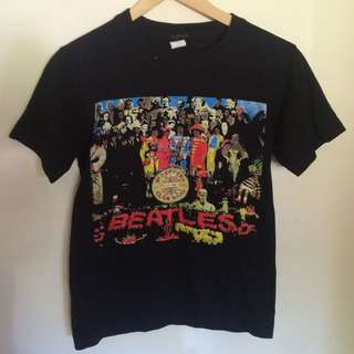 The Beatles Black Design Tee T Shirt
