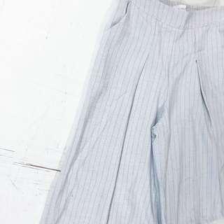 線條寬口褲