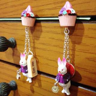 Les Nereides N2 兔子耳環