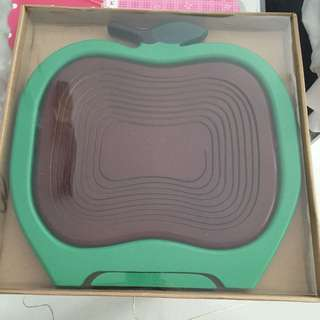 Apple Basket in Green and Dark Brown Colour Brand New