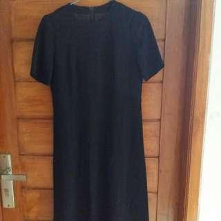 Prwloved Black Dress Atas Motif
