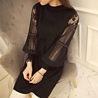 👄👄👄新品超夯蕾絲氣質高雅連身裙