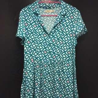 As Known As 藍綠色保齡球洋裝