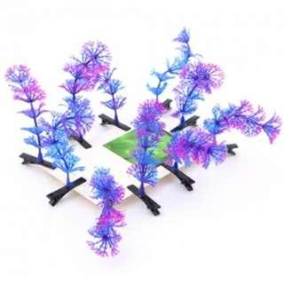 賣萌神器植物搞怪髮夾--紫色水草
