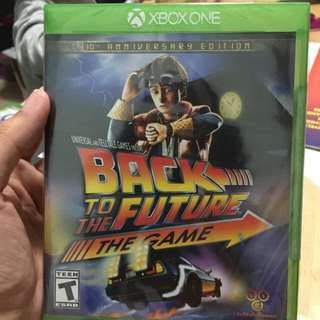 Instock! Brand New Xbox One Game Back To The Future The Game