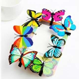 可愛賣萌神器頭飾髮夾聚會派對-多彩蝴蝶