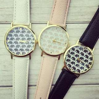 Gold X Pink Elephant Watch