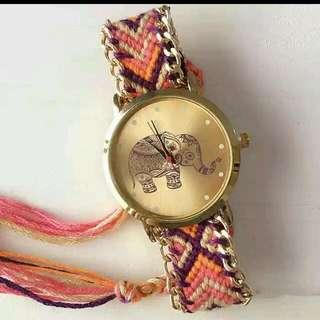 大象編織手帶錶