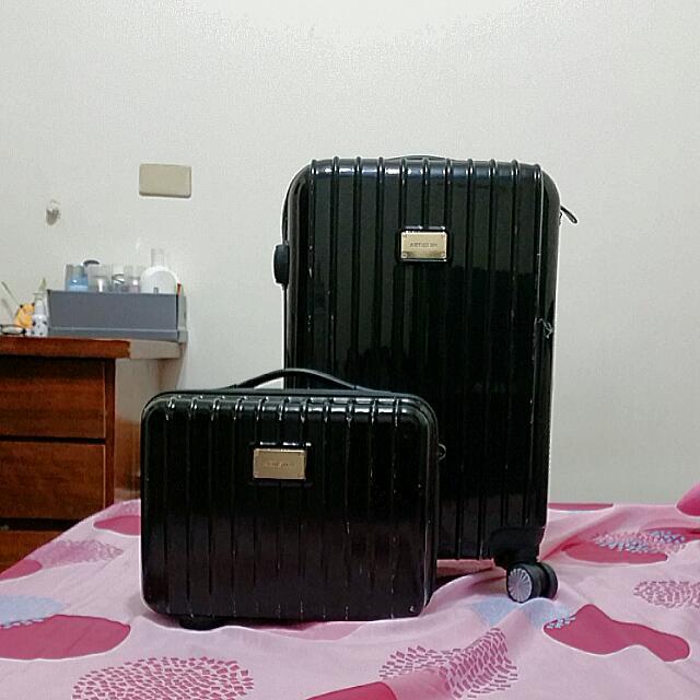 時尚子母行李箱,登機箱